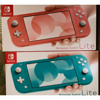 Nintendo Switch - Nintendo Switch Lite コーラル ターコイズ 2点セット