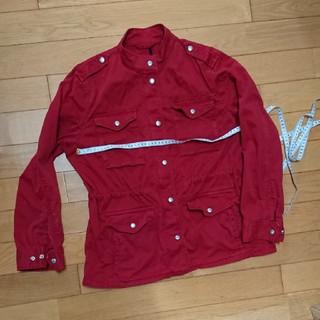 ギャップ(GAP)のgapポケット沢山の真っ赤な綿ジャケット(ミリタリージャケット)