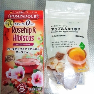 ポンパドール(POMPADOUR)の値下げ!未開封 ハーブティー POMPADOURと無印良品のセット(茶)