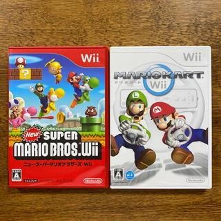 Wii - マリオカート&New スーパーマリオブラザーズ Wii  2点セット!