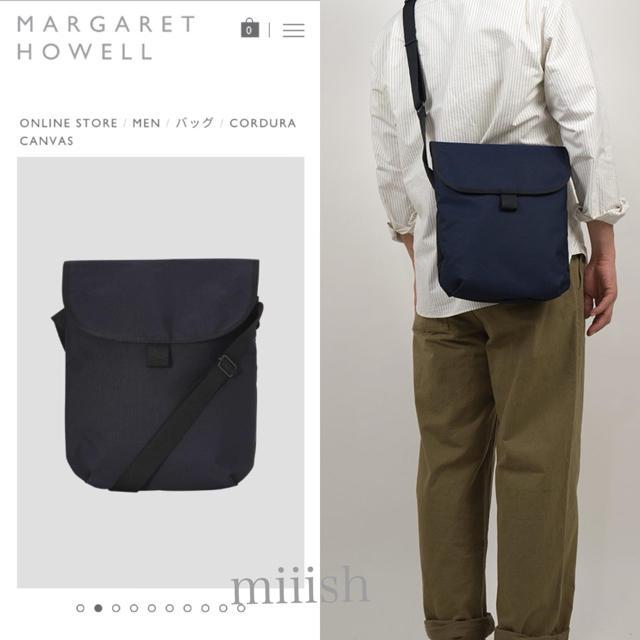 MARGARET HOWELL(マーガレットハウエル)の未使用 2020新型 マーガレットハウエル×ポーター コーデュラショルダー 濃紺 レディースのバッグ(ショルダーバッグ)の商品写真