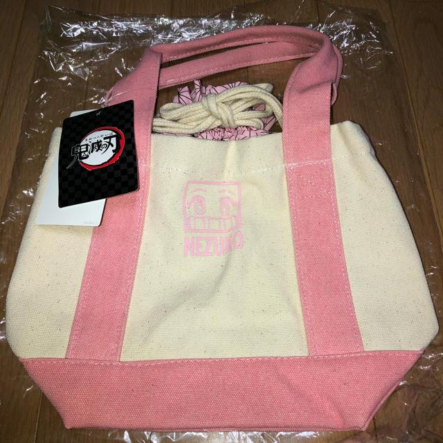 HONEYS(ハニーズ)のHoneys 鬼滅の刃 トートバッグ ☆ 禰豆子巾着バッグ レディースのバッグ(トートバッグ)の商品写真