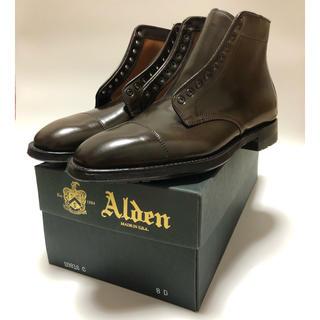 Alden - オールデン シガーコードバン ストレートチップブーツ 8D
