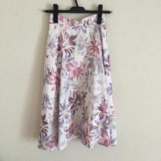 アールディールージュディアマン(RD Rouge Diamant)のflower.u様専用  2点  花柄フレアー スカート&パンプス(ひざ丈スカート)
