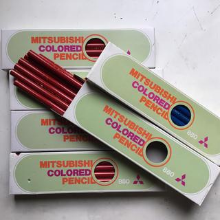 ミツビシ(三菱)の赤鉛筆67本、青鉛筆11本(色鉛筆)