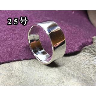 平打ち シルバー925 リング  ワイド 幅広 フラット 大きいサイズ 銀 指輪(リング(指輪))