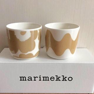 marimekko - マリメッコ ラテマグ 2個 ウニッコ  ロッキ ベージュ