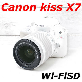 Canon - ❤️人気ホワイト❤️スマホ転送❤️Canon kiss X7