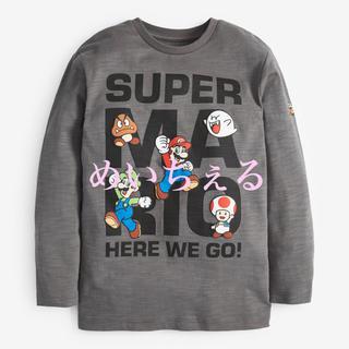 ニンテンドウ(任天堂)の【新品】グレー スーパーマリオ長袖Tシャツ(オールド)(Tシャツ/カットソー)