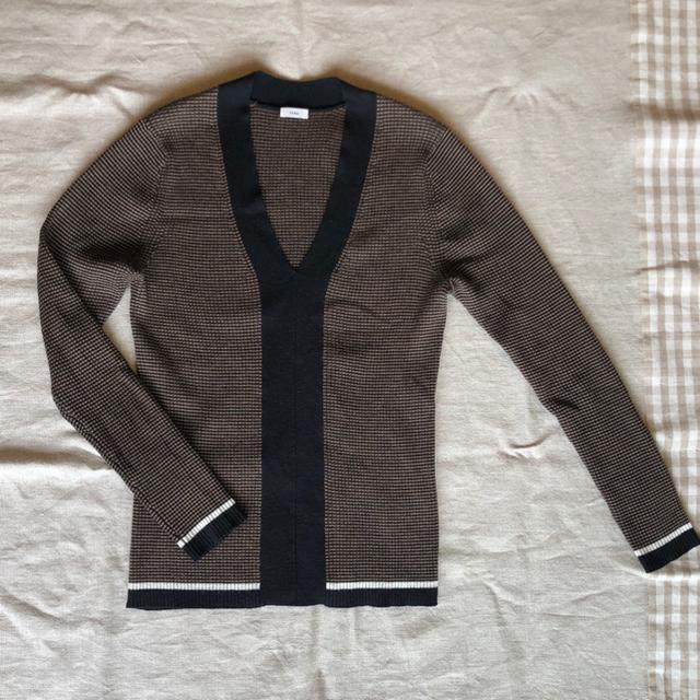 IENA(イエナ)のIENA  3×3リブVネックプルオーバー レディースのトップス(ニット/セーター)の商品写真