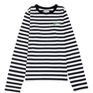プニュズ(PUNYUS)の渡辺直美プロデュース!punyus ワンポイントボーダーロンT 大きいサイズ(Tシャツ(長袖/七分))