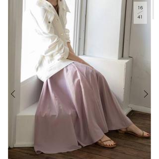 ノーブル(Noble)のNOBLE ノーブル 2020SS パールローンマキシスカート ピンク(ロングスカート)