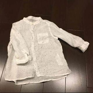 ザラキッズ(ZARA KIDS)のZARA リネン 100%長袖シャツ 80cm(シャツ/カットソー)