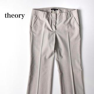 セオリー(theory)のtheory セオリー ストレートパンツ スラックス グレー(カジュアルパンツ)