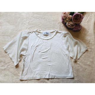 スライ(SLY)のSLY スライ Tシャツ トップス ショート丈 シースル袖(Tシャツ(半袖/袖なし))