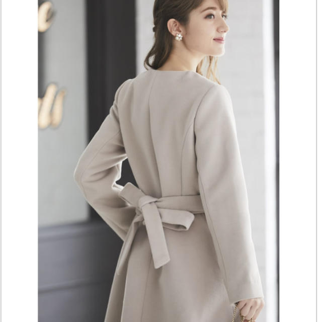 tocco(トッコ)のtocco ノーカラーコート レディースのジャケット/アウター(ロングコート)の商品写真
