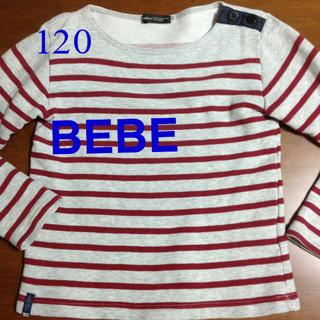 BeBe - BEBE  キッズ ボーダーカットソー 120