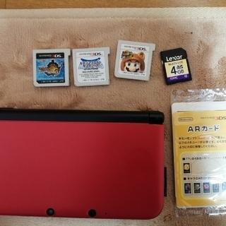 ニンテンドー3DS - 3DSLL 本体赤 ソフト3本セット