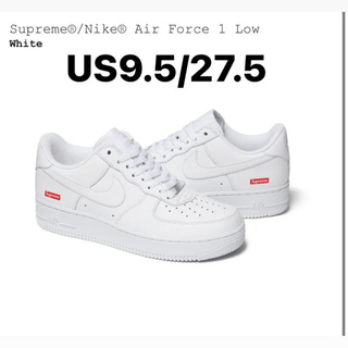 シュプリーム(Supreme)のSupreme air force 1 27.5cm white(スニーカー)
