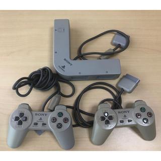 プレイステーション(PlayStation)の【ジャンク】プレイステーション用 マルチタップ・コントローラー2つ(家庭用ゲーム機本体)