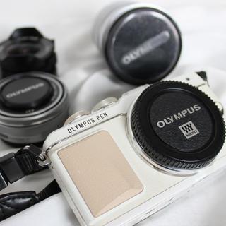OLYMPUS - OLYMPUS PEN Lite レンズ3本セット 超広角レンズ付き