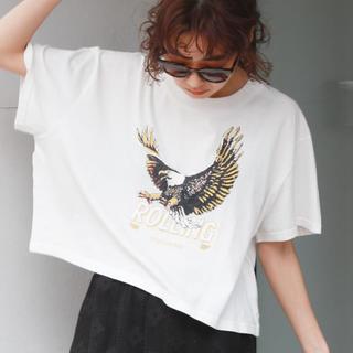 アングリッド(Ungrid)のUngrid イーグルプリントショートtee(Tシャツ(半袖/袖なし))