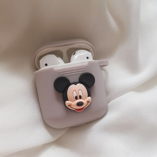 Disney - AirPods ケース エアーポッズ カバー ミッキー キーリング