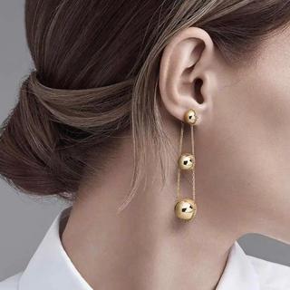 ティファニー(Tiffany & Co.)のティファニー Tiffany ハードウェア トリプル ドロップピアス k18YG(ピアス)
