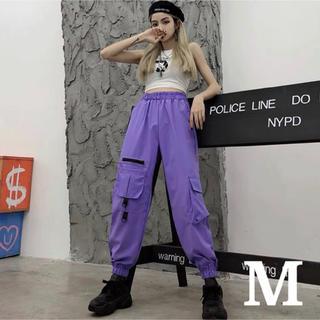 ストリート ピープス系 レディース ジョガーパンツ カーゴパンツ 紫 M