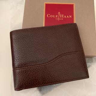 コールハーン(Cole Haan)のコールハーン 二つ折り財布 茶色 新品未使用(折り財布)