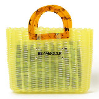 ビームス(BEAMS)のBEAMS GOLF ORANGE LABEL / 編み込み カートバッグ 黄色(バッグ)