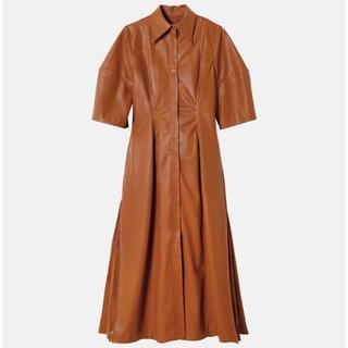 リステア(RESTIR)の IRENE   Faux Leather Shirt Dress (ロングワンピース/マキシワンピース)
