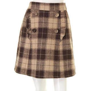 アンクルージュ(Ank Rouge)のAnk Rouge♡フリルチェック台形スカート(ひざ丈スカート)