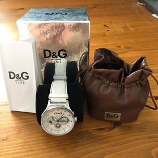 ディーアンドジー(D&G)の美品 D&G ドルチェ&ガッバーナ ドルガバ 腕時計 白 ホワイト(腕時計(アナログ))
