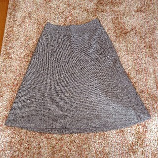 UNTITLED - UNTITLED 大人ブラウン系 ツイード ロングフレアスカート