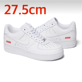 Supreme - 27.5 Supreme Nike Air Force 1 Low White
