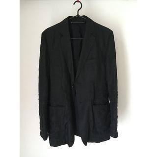ムジルシリョウヒン(MUJI (無印良品))の無印良品 麻ジャケット(黒)(テーラードジャケット)