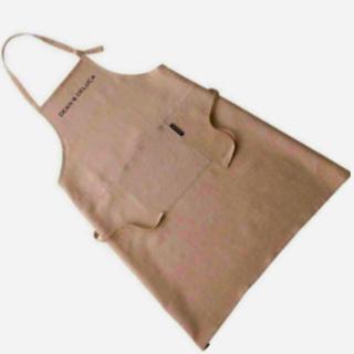 ディーンアンドデルーカ(DEAN & DELUCA)のDEAN & DELUCA フルエプロン natural リネン100 %麻素材(収納/キッチン雑貨)