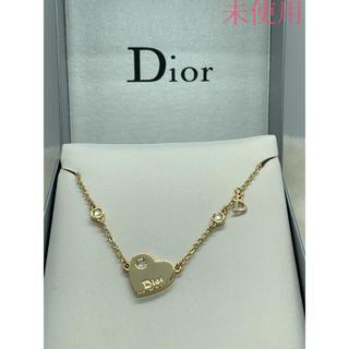 Christian Dior - 未使用 クリスチャン ディオール ハートネックレス/ゴルード
