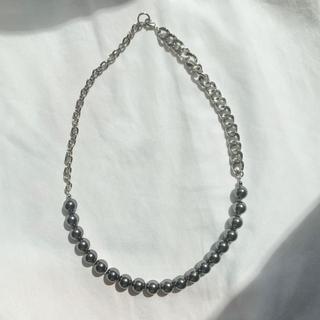 ジョンローレンスサリバン(JOHN LAWRENCE SULLIVAN)のchain pearl necklace BLACK(ネックレス)