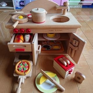 【木製おもちゃのだいわ】おままごと キッチン