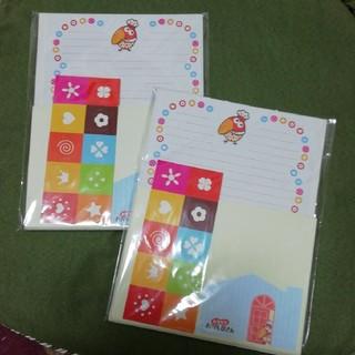 モリナガセイカ(森永製菓)のキョロちゃん レターセット 便箋 2個(カード/レター/ラッピング)