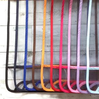 シンプル☆透明ランドセルカバー選べる縁取り10色 静電気防止素材 ハンドメイド