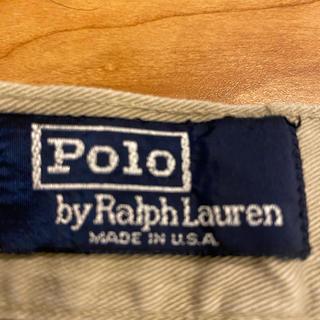 ポロラルフローレン(POLO RALPH LAUREN)の80年代 USA生産 Polo by Ralph Lauren 2タックチノ33(チノパン)
