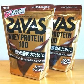 ザバス(SAVAS)のSAVAS ホエイプロテイン × 2袋(プロテイン)