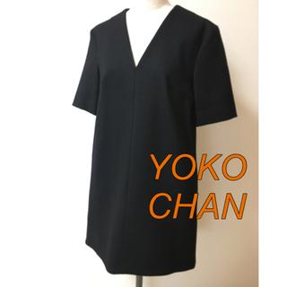 バーニーズニューヨーク(BARNEYS NEW YORK)のYOKO CHAN ヨーコ チャン ウール 黒 ワンピース(ミニワンピース)