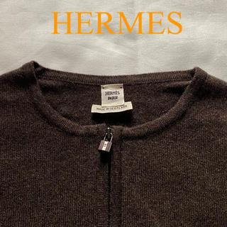 エルメス(Hermes)の未使用 HERMES カデナジップ カシミヤ ニット カーディガン(カーディガン)