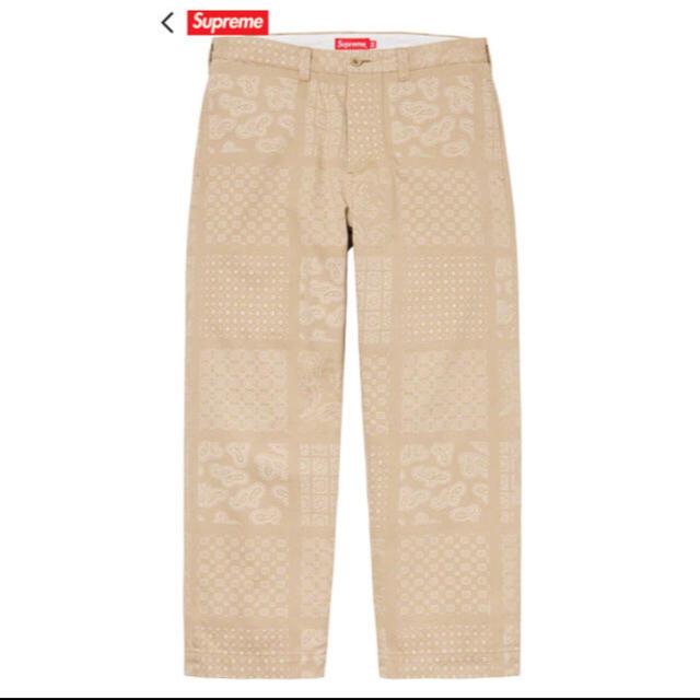 Supreme(シュプリーム)の定価以下 Supreme Paisley Grid Chino Pant  メンズのパンツ(ワークパンツ/カーゴパンツ)の商品写真