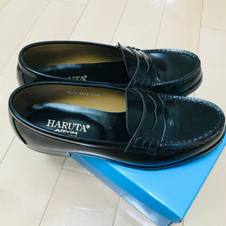ハルタ(HARUTA)のHARUTA  ローファー  25.5 黒(ドレス/ビジネス)