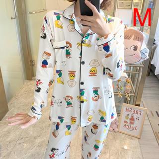スヌーピー柄 パジャマ ルームウェア セットアップ
